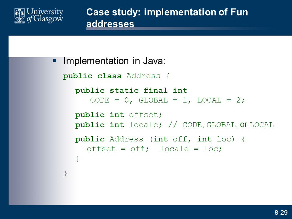 Case study: implementation of Fun addresses