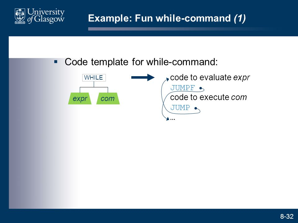 Example: Fun while-command (1)