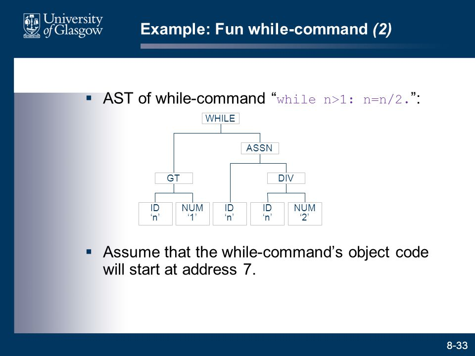 Example: Fun while-command (2)