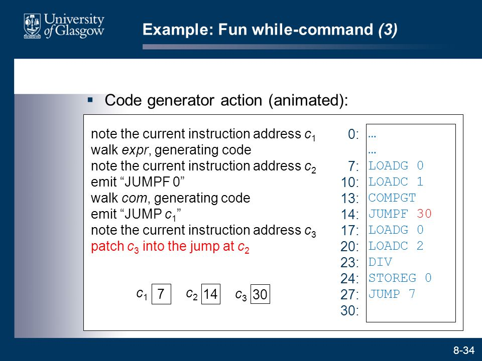 Example: Fun while-command (3)