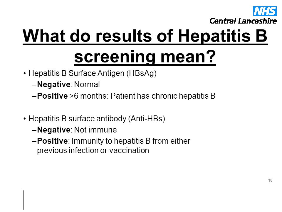 how to get hbsag positive to negative