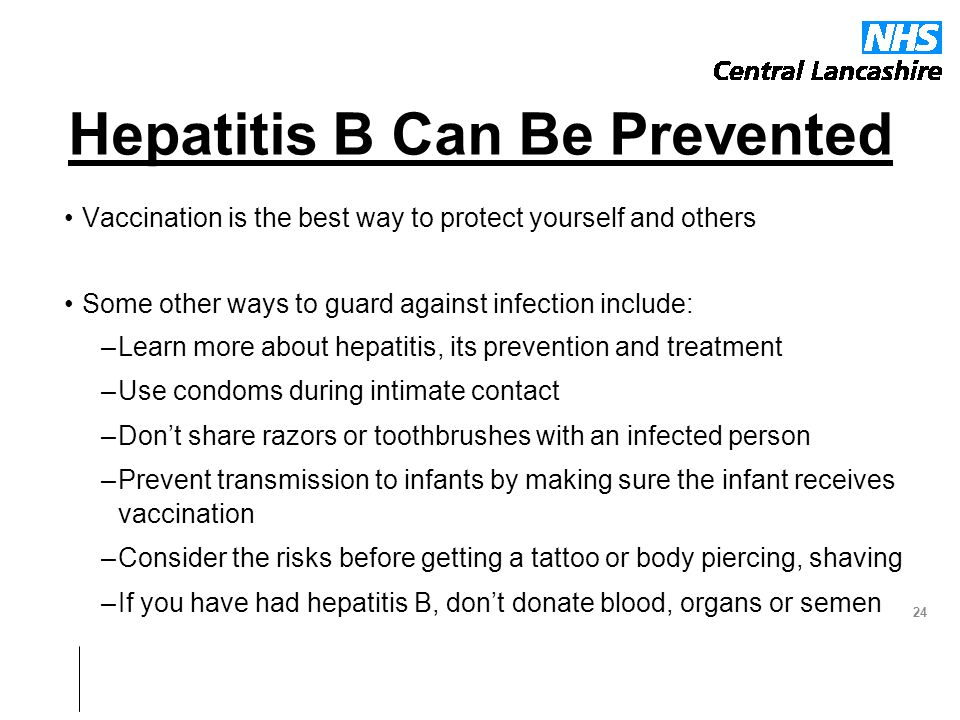 Hepatitis B Can Be Prevented