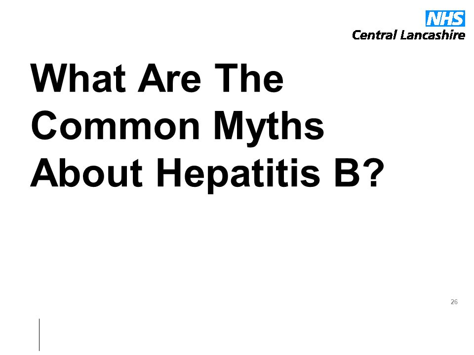 What Are The Common Myths About Hepatitis B