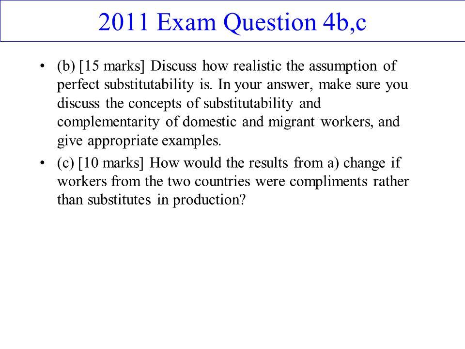 2011 Exam Question 4b,c