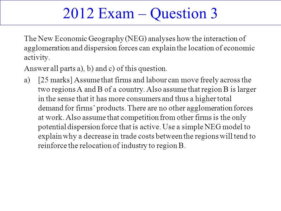 2012 Exam – Question 3