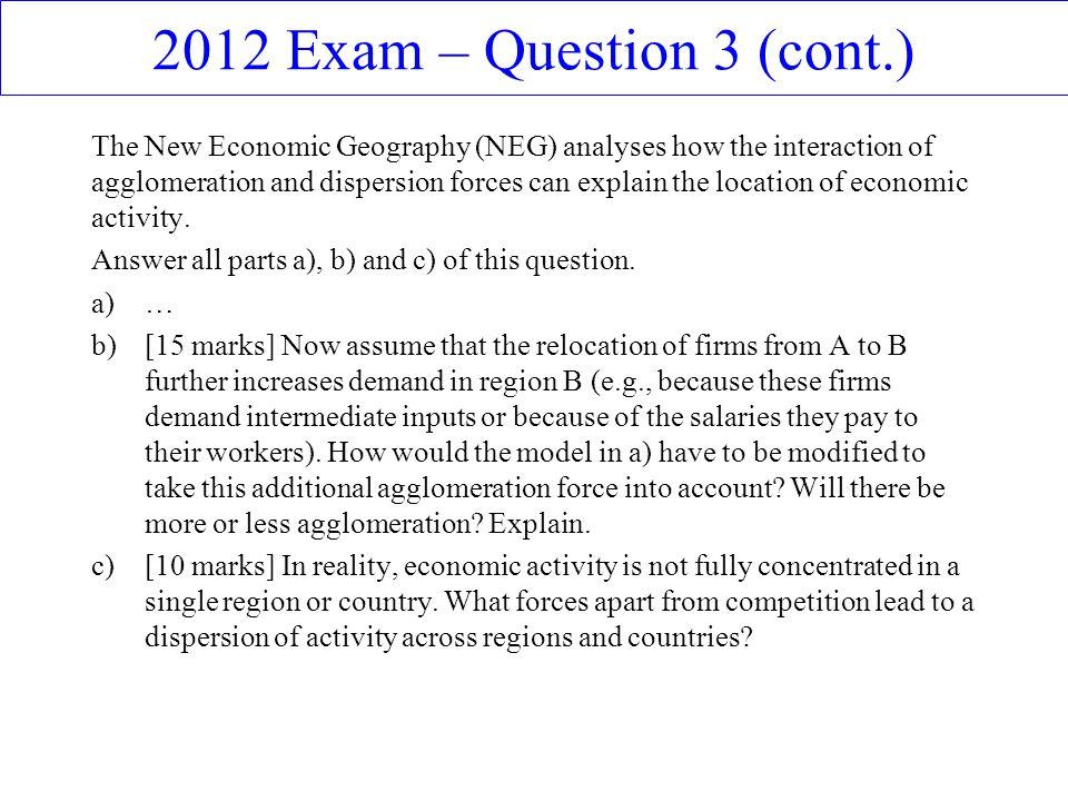 2012 Exam – Question 3 (cont.)