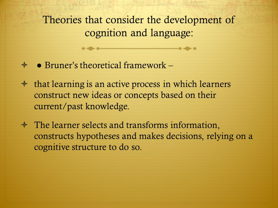 development of cognition and language Piaget was the first psychologist to make a systematic study of children's cognitive development jean piaget (1952 see also development of language and.