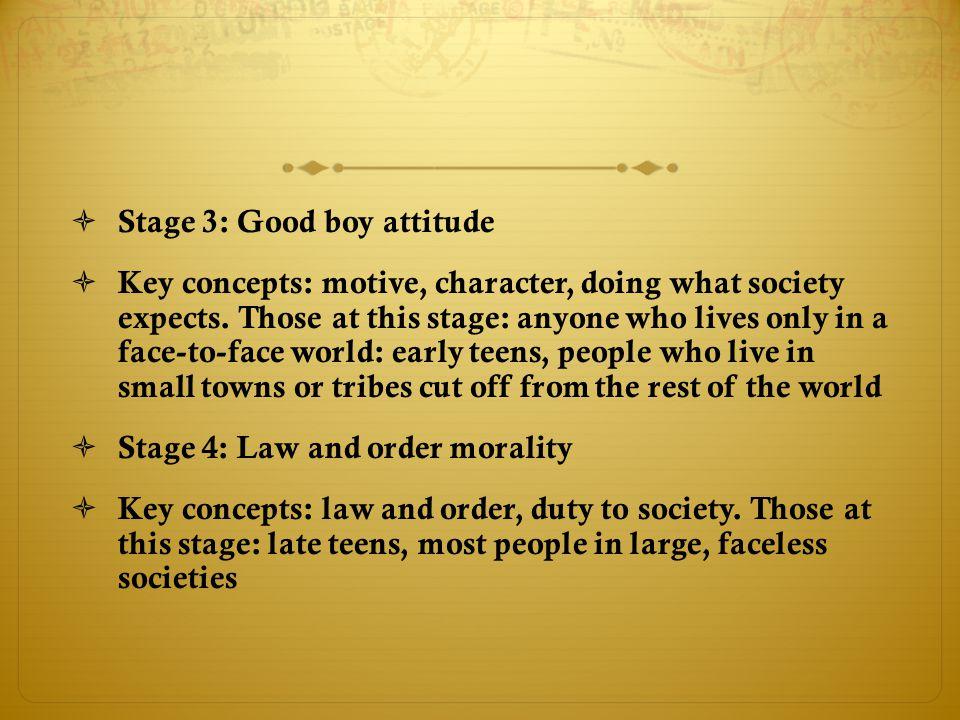 Stage 3: Good boy attitude