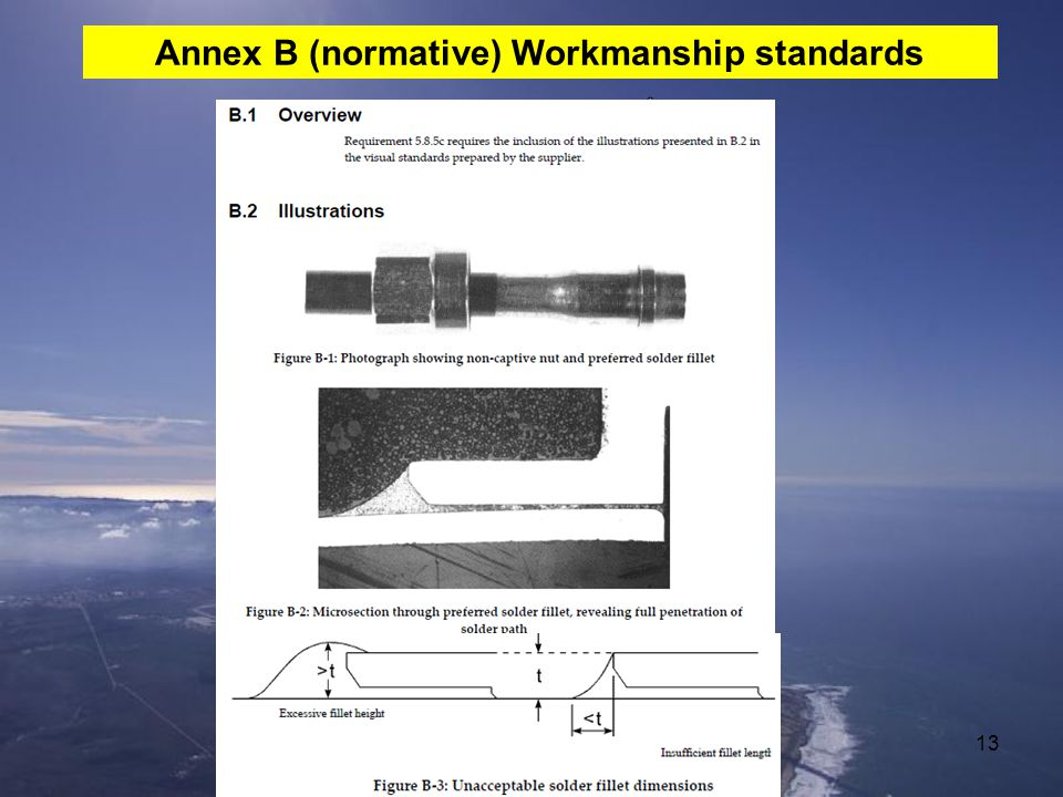 Annex B (normative) Workmanship standards