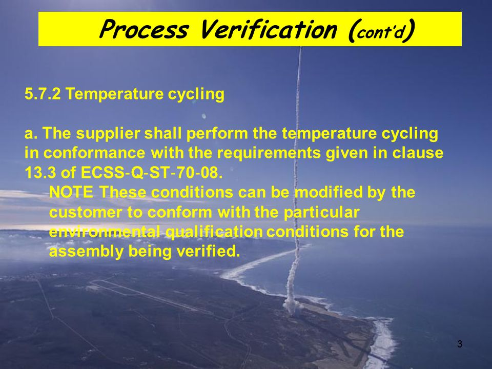 Process Verification (cont'd)