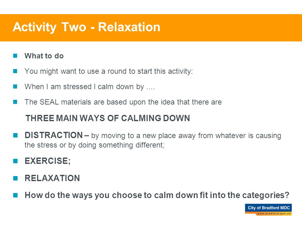 Activity Two - Relaxation