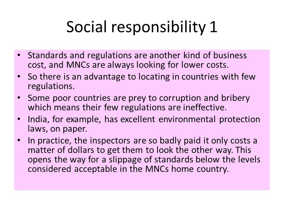 Social responsibility 1