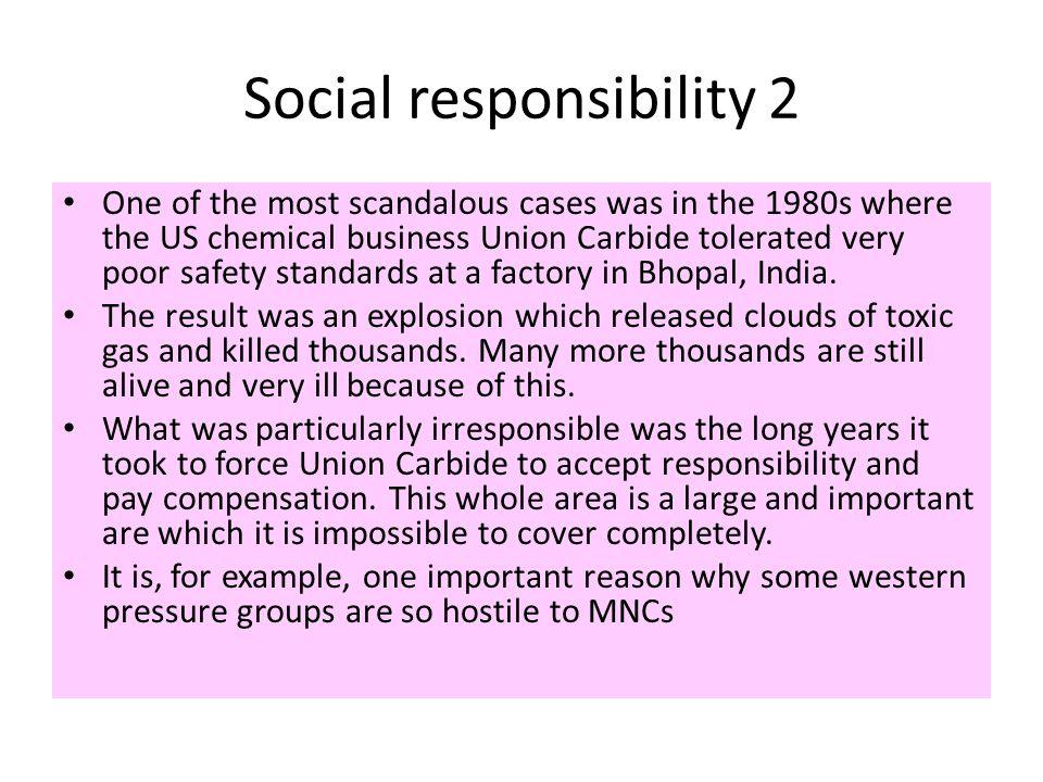Social responsibility 2