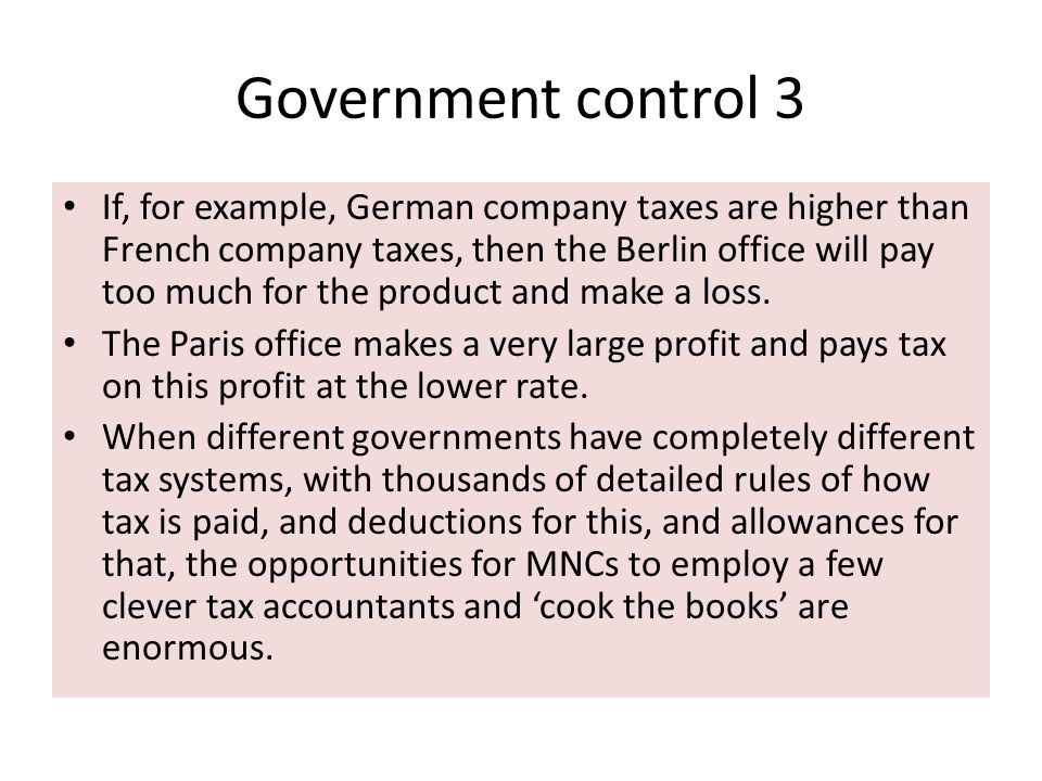 Government control 3