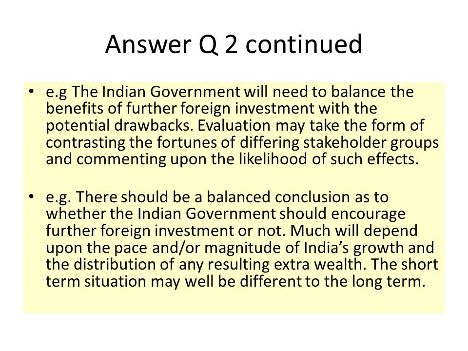 Answer Q 2 continued