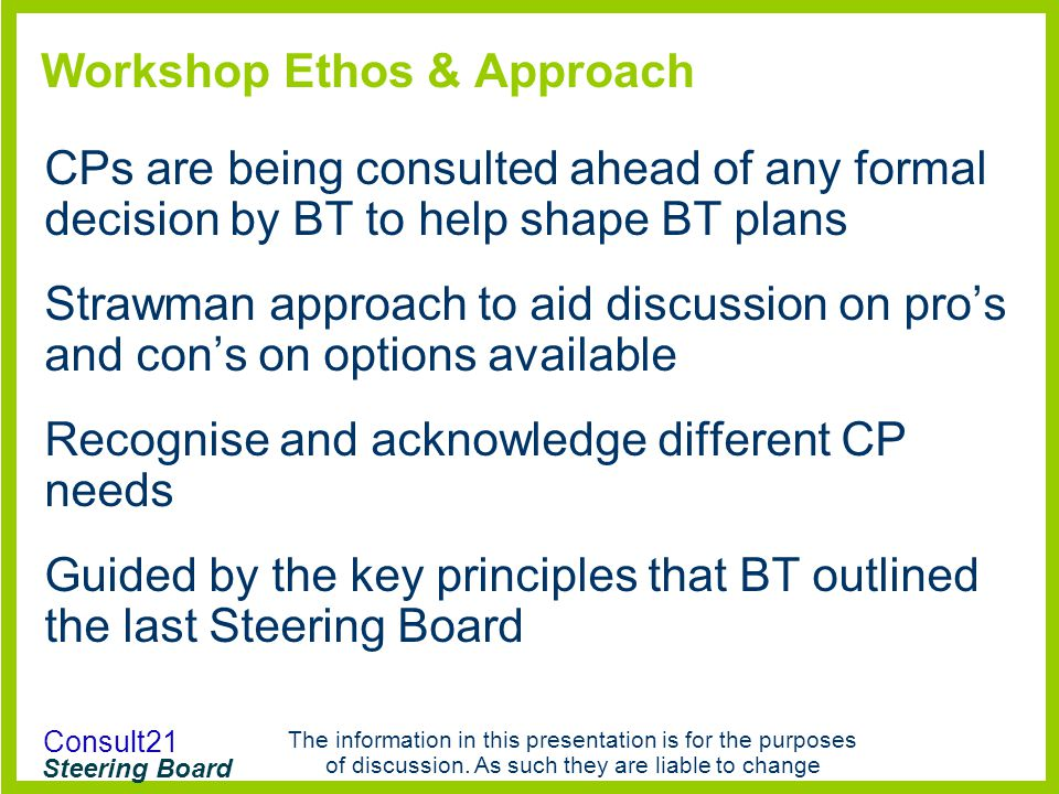 Workshop Ethos & Approach