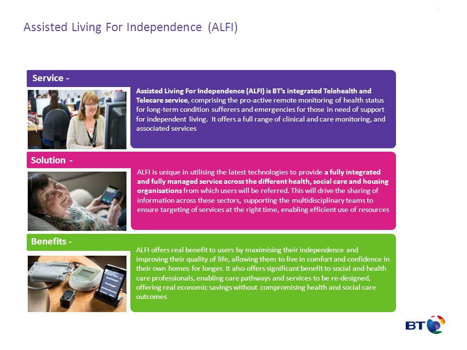 Assisted Living For Independence (ALFI)