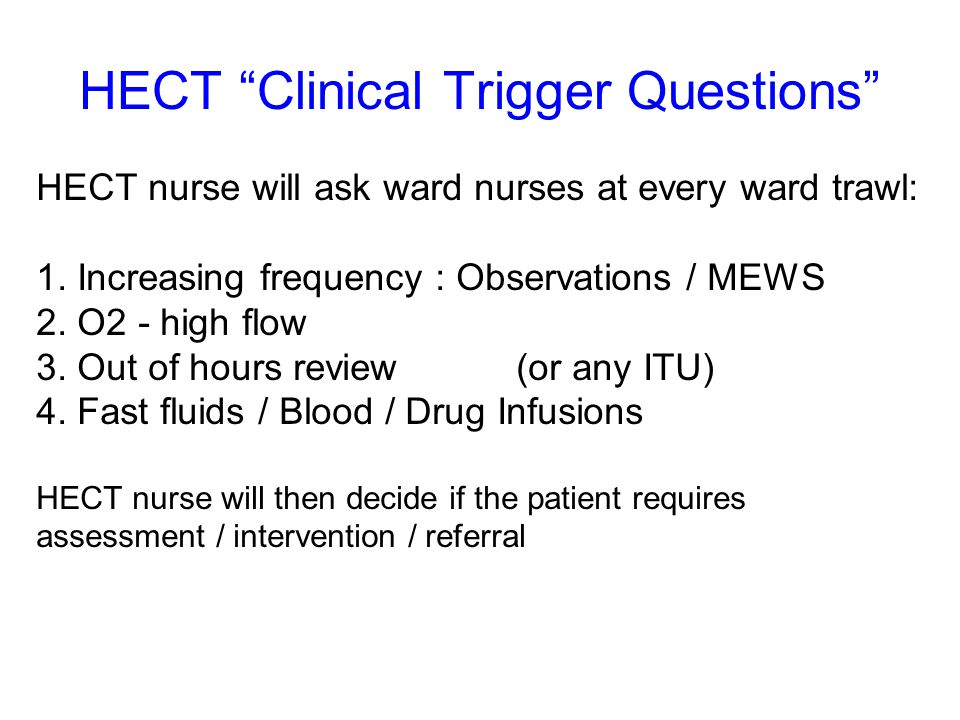 HECT Clinical Trigger Questions