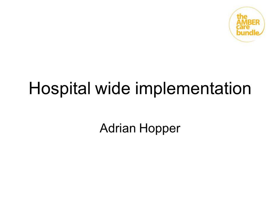 Hospital wide implementation