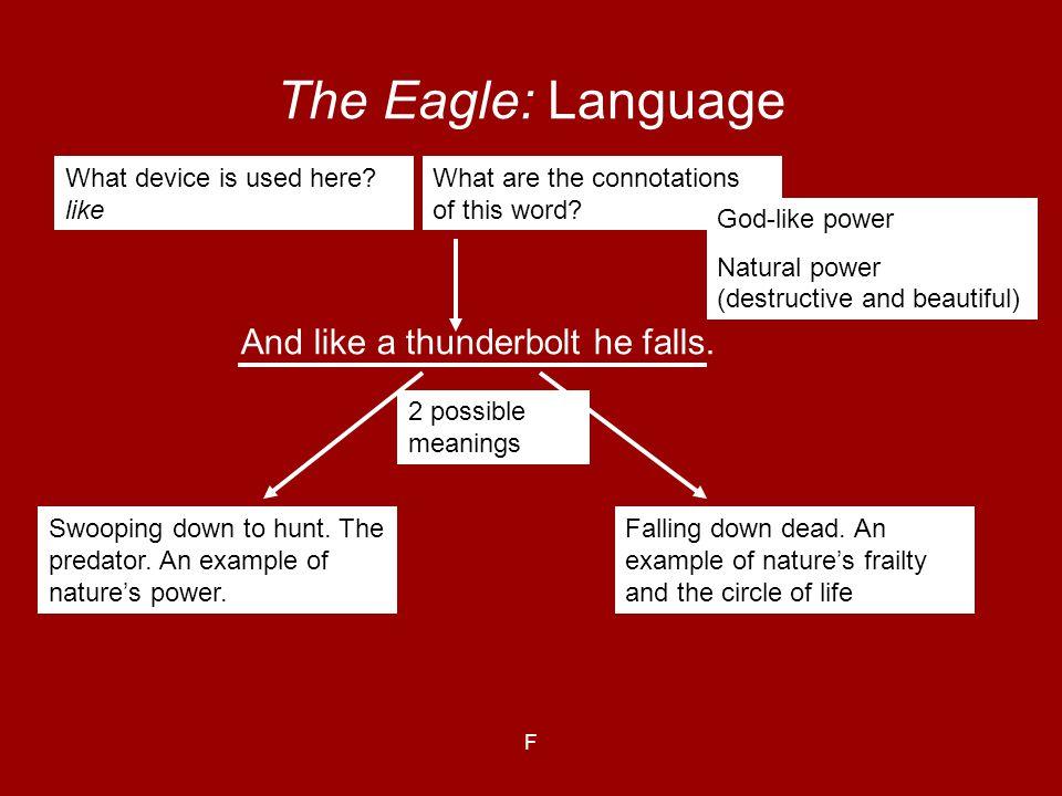 The Eagle: Language And like a thunderbolt he falls.