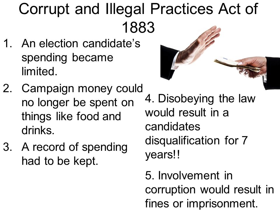 Corrupt and Illegal Practices Act of 1883