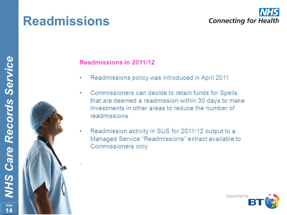 Readmissions Readmissions in 2011/12
