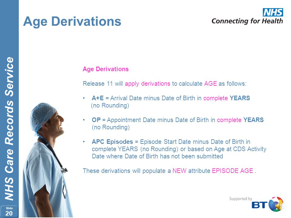 Age Derivations Age Derivations
