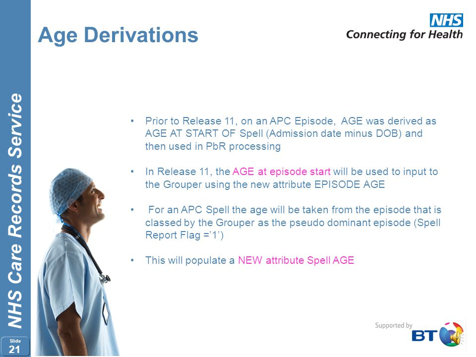 Age Derivations