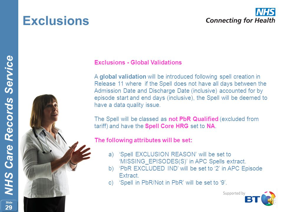 Exclusions Exclusions - Global Validations