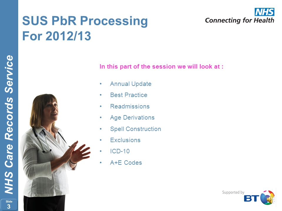 SUS PbR Processing For 2012/13