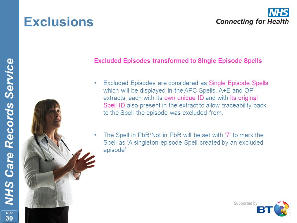 Exclusions Excluded Episodes transformed to Single Episode Spells
