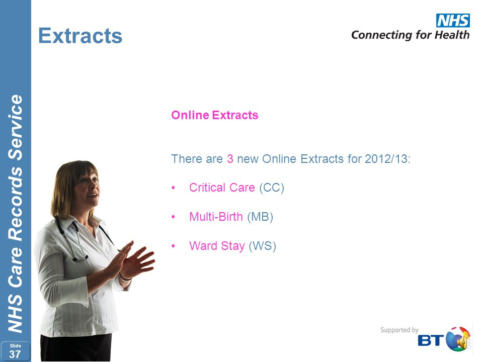 Extracts Online Extracts There are 3 new Online Extracts for 2012/13: