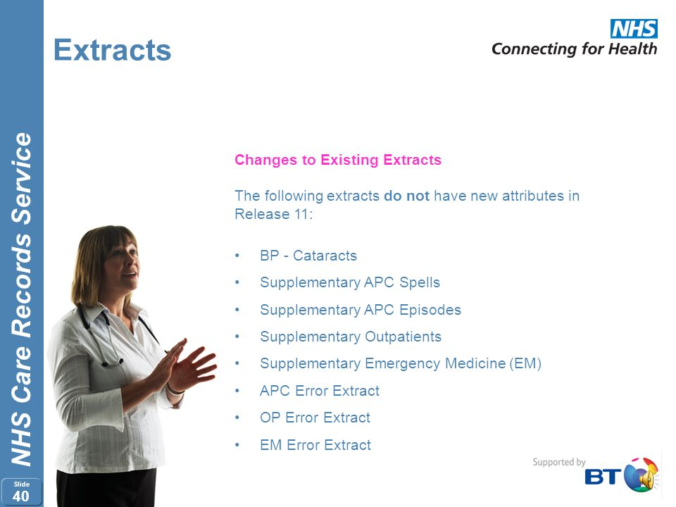 Extracts Changes to Existing Extracts