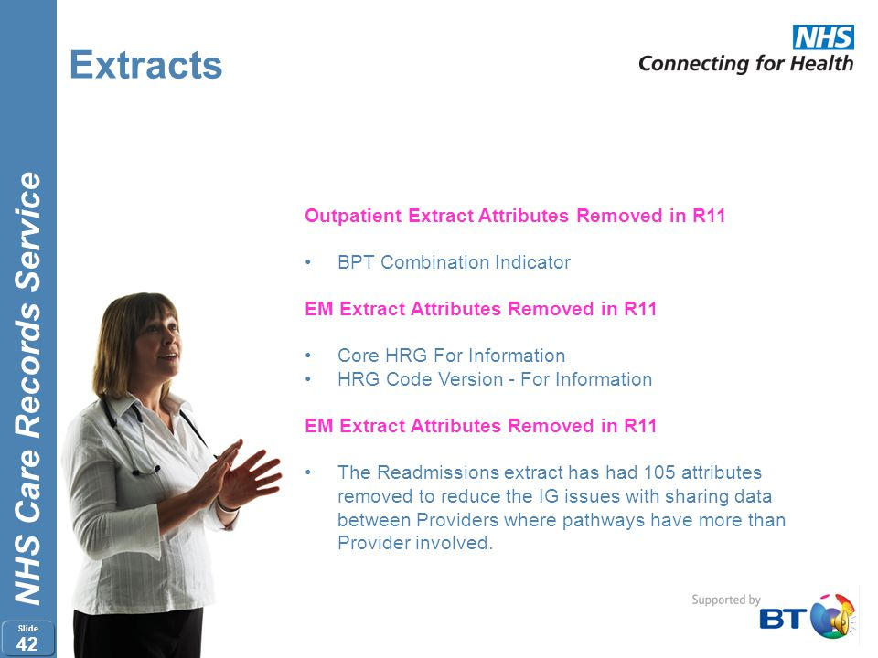 Extracts Outpatient Extract Attributes Removed in R11