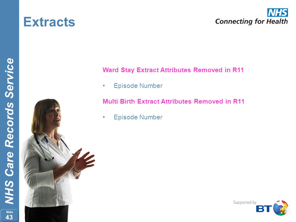 Extracts Ward Stay Extract Attributes Removed in R11 Episode Number