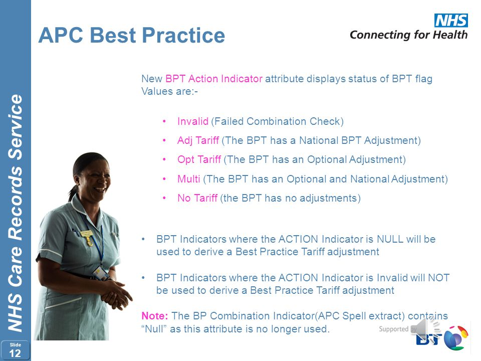 APC Best Practice New BPT Action Indicator attribute displays status of BPT flag. Values are:- Invalid (Failed Combination Check)