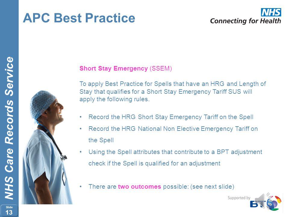 APC Best Practice Short Stay Emergency (SSEM)
