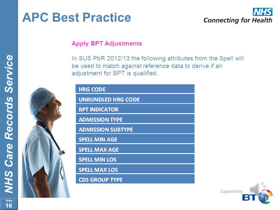 APC Best Practice Apply BPT Adjustments