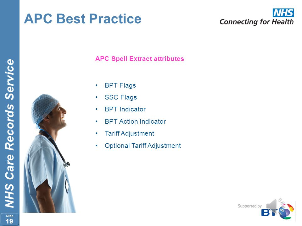 APC Best Practice APC Spell Extract attributes BPT Flags SSC Flags