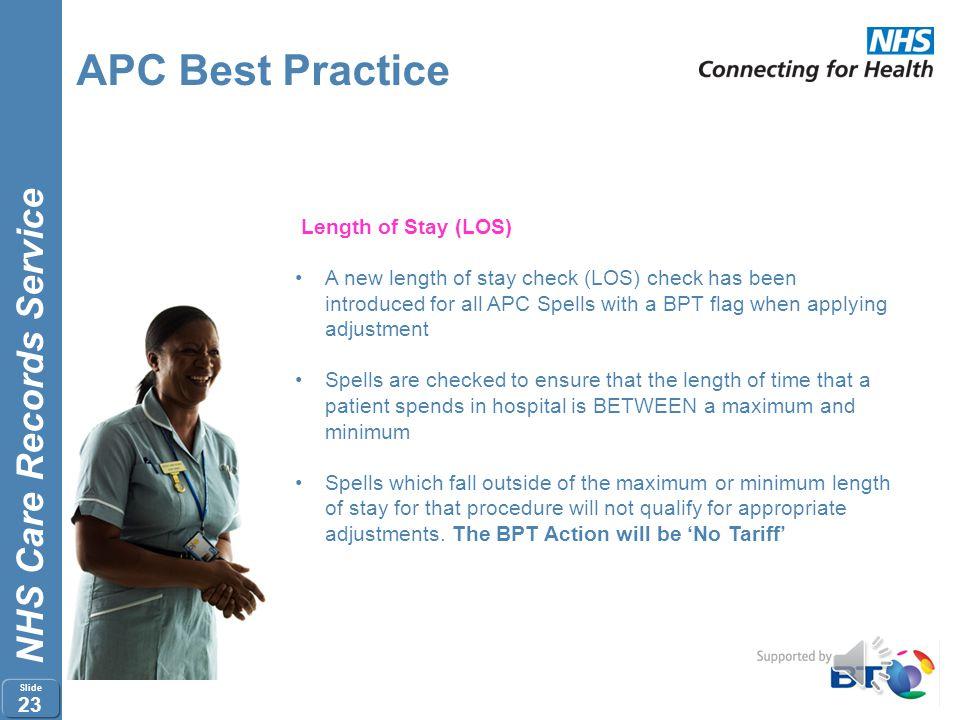 APC Best Practice Length of Stay (LOS)