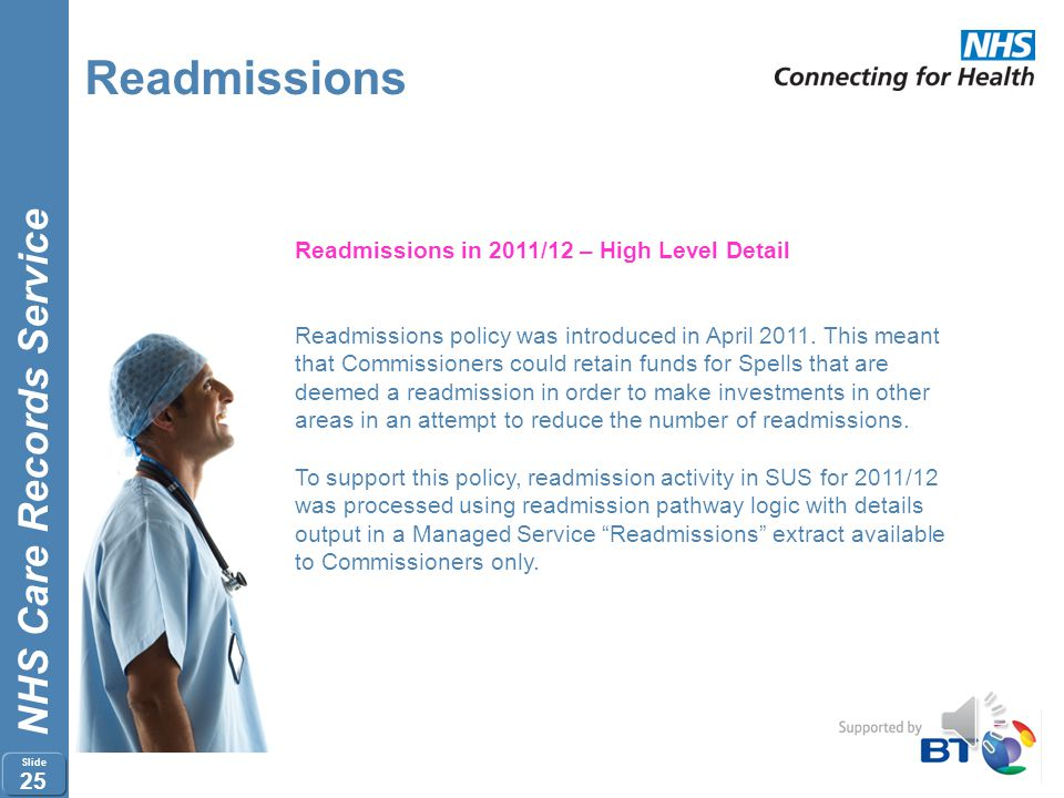 Readmissions Readmissions in 2011/12 – High Level Detail