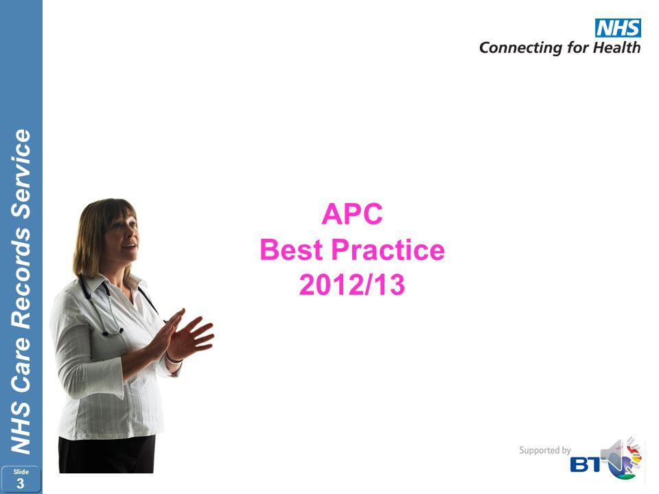 APC Best Practice 2012/13