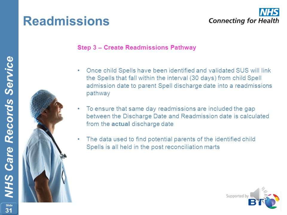 Readmissions Step 3 – Create Readmissions Pathway