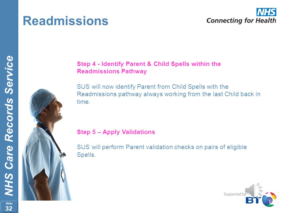 Readmissions Step 4 - Identify Parent & Child Spells within the Readmissions Pathway.
