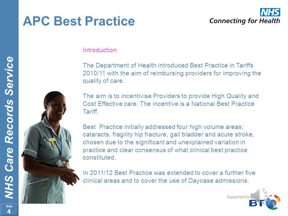 APC Best Practice Introduction