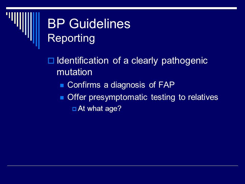 BP Guidelines Reporting