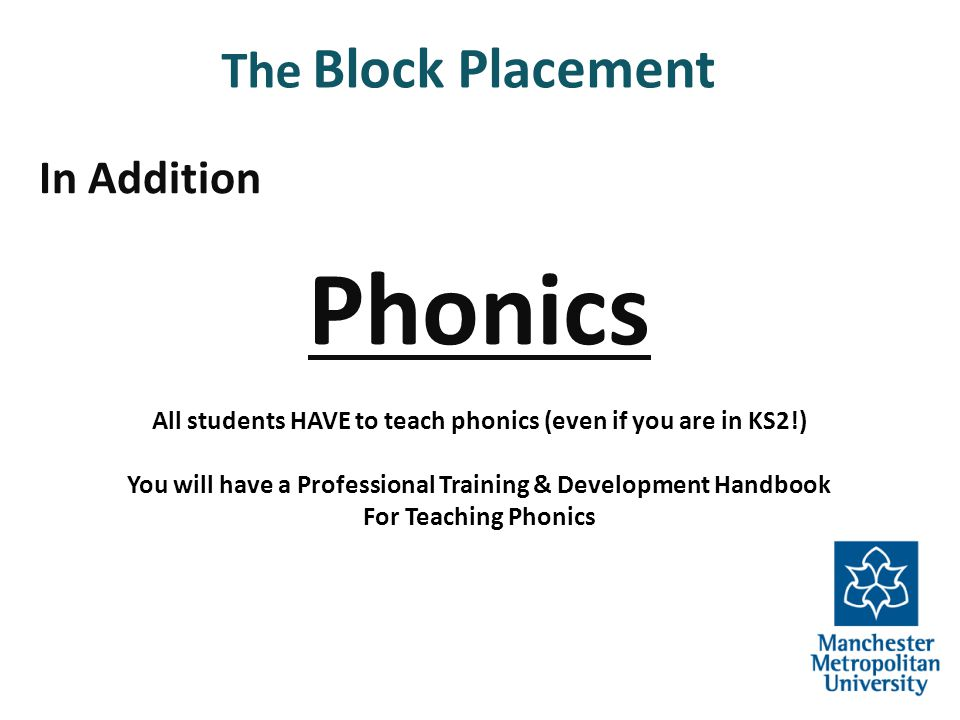 Phonics The Block Placement In Addition