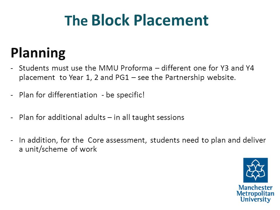 The Block Placement Planning