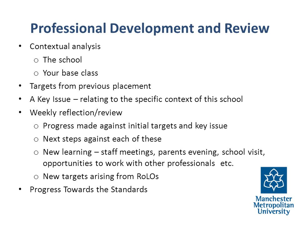Professional Development and Review