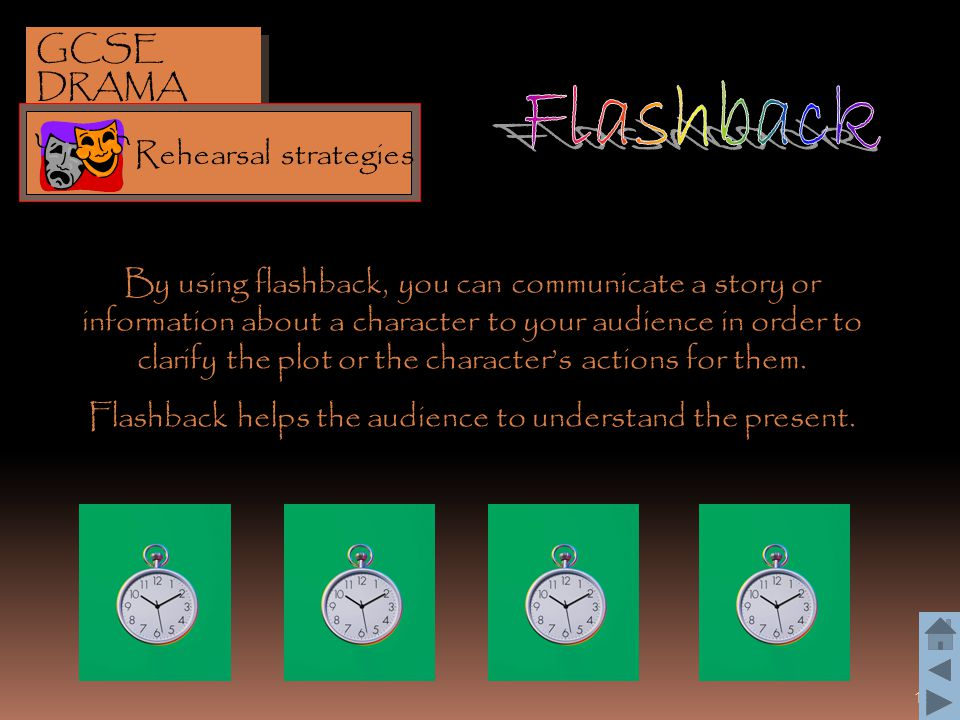 Flashback helps the audience to understand the present.
